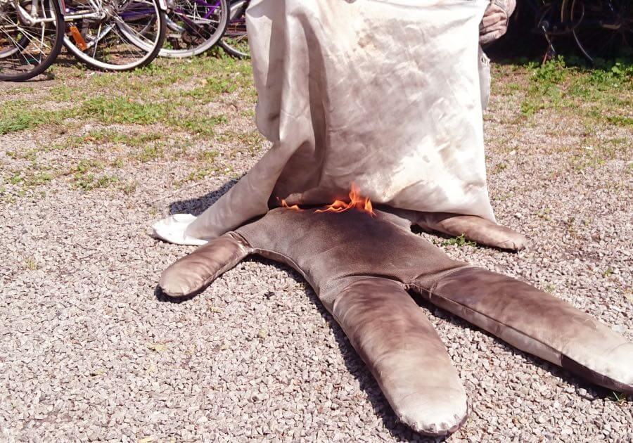 Brandutbildning praktik med brandfilt Malmö Skåne | Eldupphör
