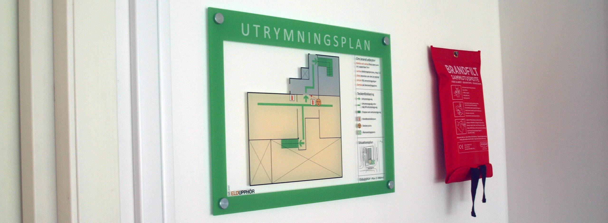Utrymningsplan Malmö Skåne