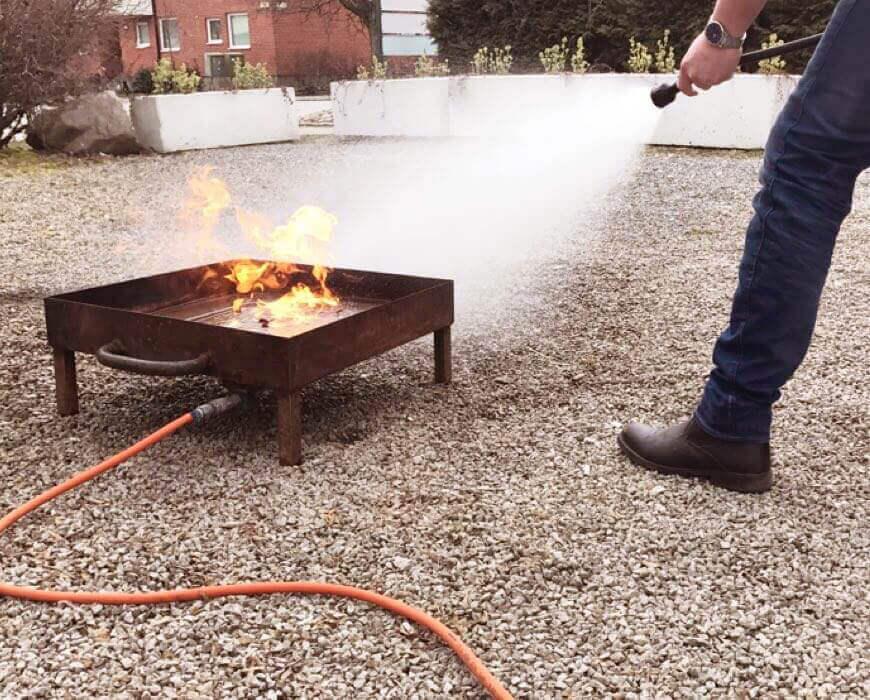 Brandutbildning praktik med brandsläckare Malmö Skåne | Eldupphör