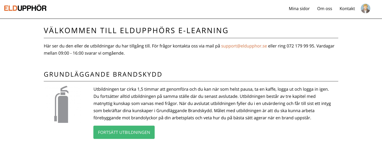E-learning brandskydd | Eldupphör